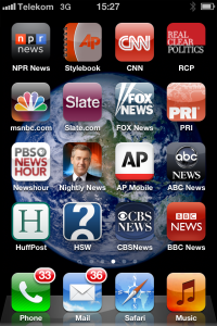 I have a little problem with news apps!   Also with bothering to read emails or listening to voice mails.