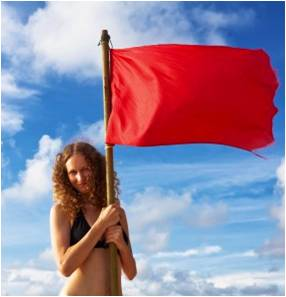 Red flag and I have a bikini!